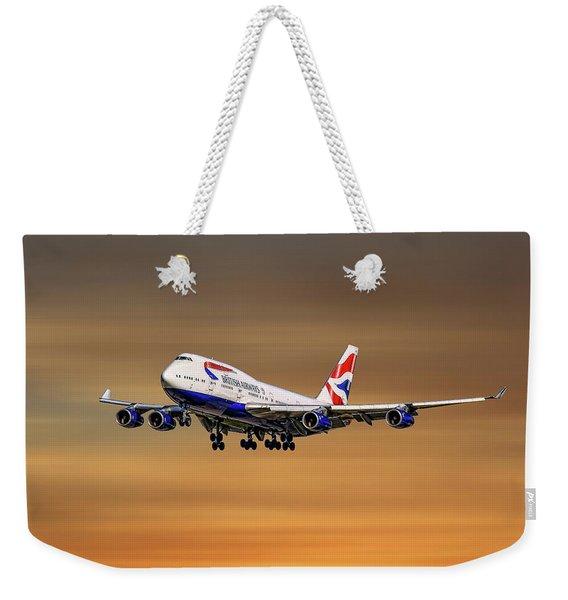 British Airways Boeing 747-400 Weekender Tote Bag