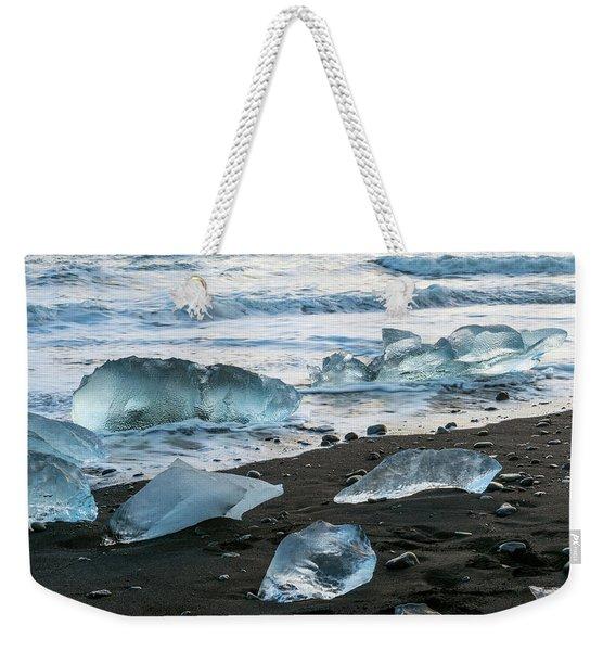 The Diamond Beach, Jokulsarlon, Iceland Weekender Tote Bag
