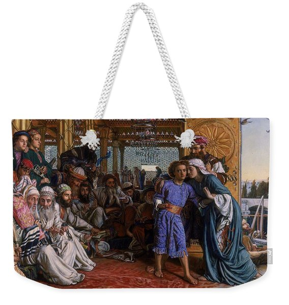 The Finding Of The Saviour In The Temple Weekender Tote Bag