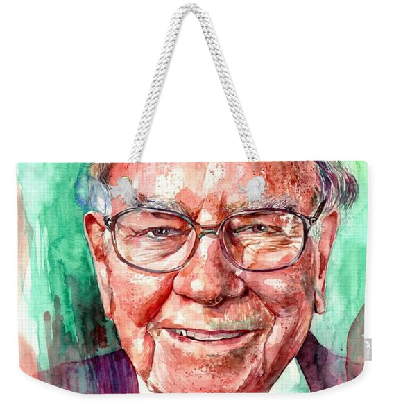 Warren Buffett Portrait Weekender Tote Bag