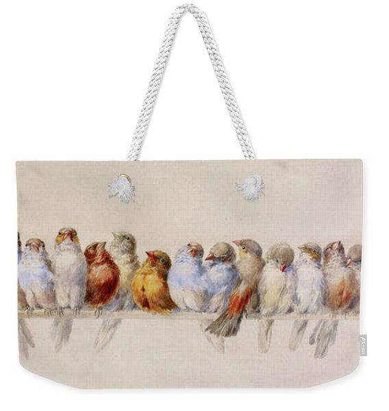 A Perch Of Birds  Weekender Tote Bag