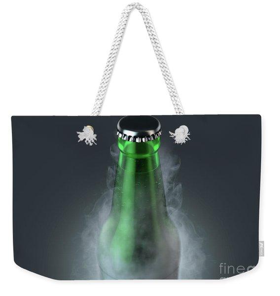Beer Bottle With Condensation Weekender Tote Bag