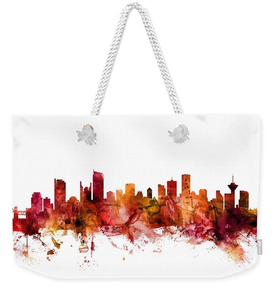Vancouver Canada Skyline Weekender Tote Bag