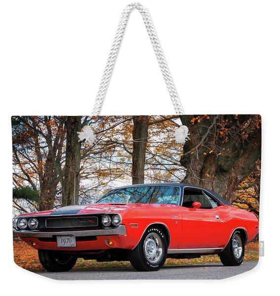 70 Dodge Challenger Rt - Driver Side Weekender Tote Bag