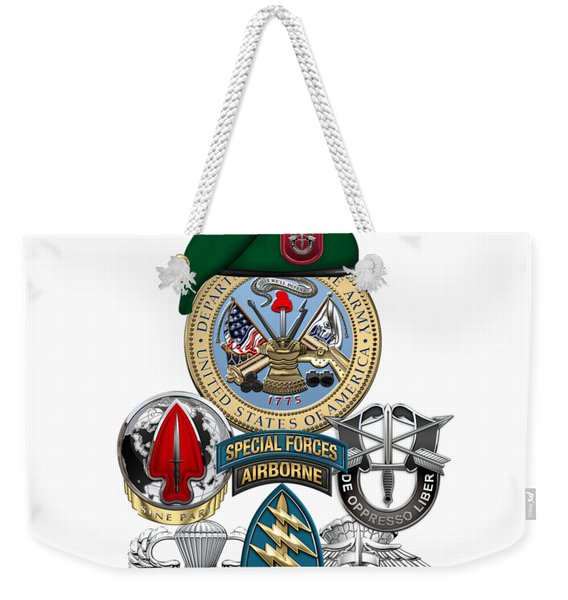 7th Special Forces Group - Green Berets Special Edition Weekender Tote Bag
