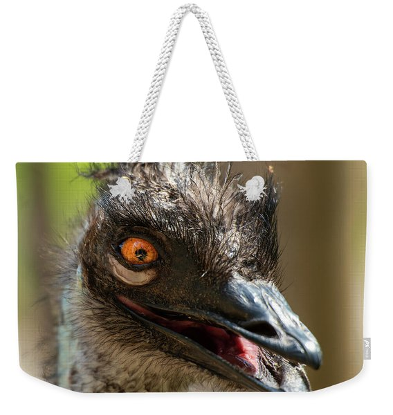 Weekender Tote Bag featuring the photograph Australian Emu Outdoors by Rob D Imagery
