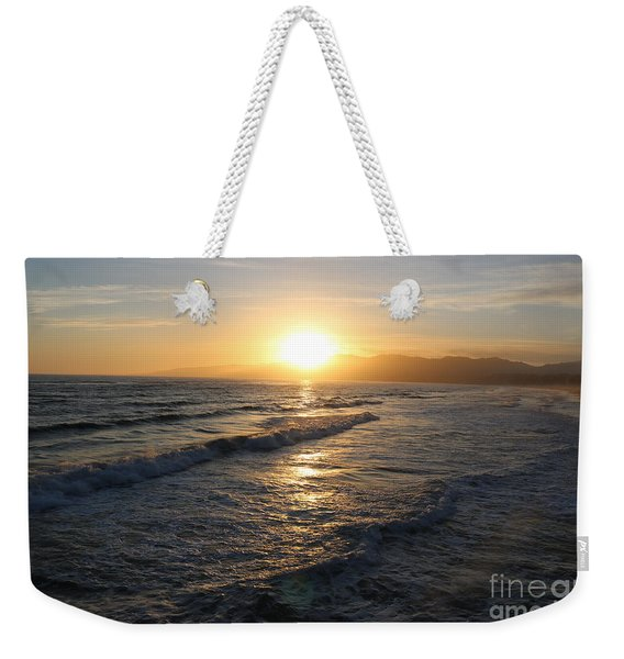 Pacific Sunset , Santa Monica, California Weekender Tote Bag