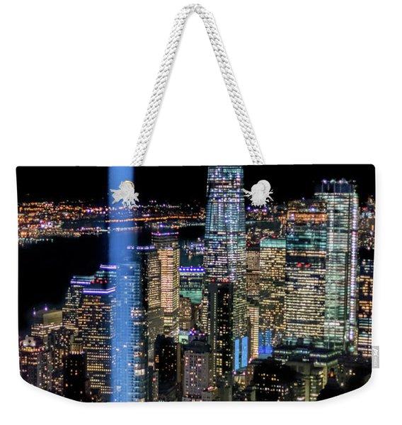 911 Lights Weekender Tote Bag