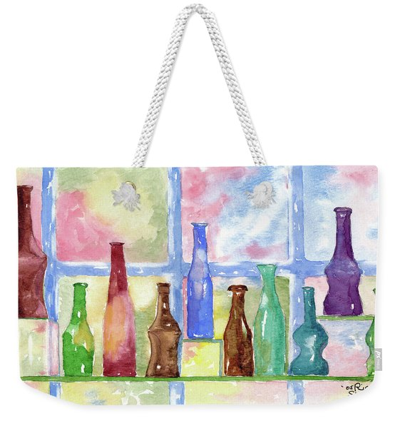 Weekender Tote Bag featuring the painting 99 Bottles by Rich Stedman