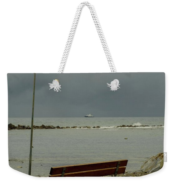 A Bench On Which To Expect, By The Sea Weekender Tote Bag