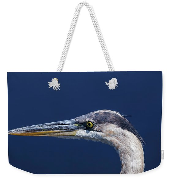 A Blue Portrait Weekender Tote Bag