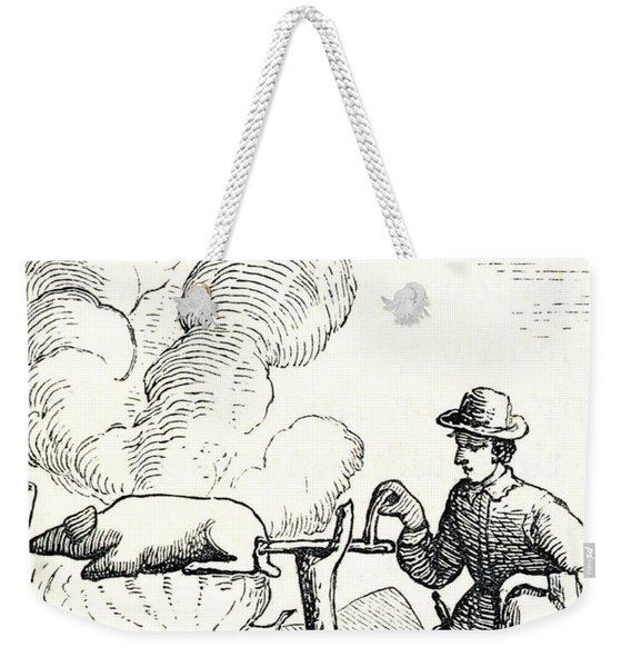 A Boucan, From Santo Domingo Past And Present By Samuel Hazard Weekender Tote Bag
