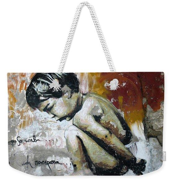 A Boy Graffiti Weekender Tote Bag