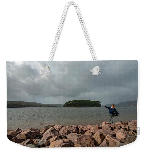A Charming Little Girl In The Isle Of Skye 1 Weekender Tote Bag