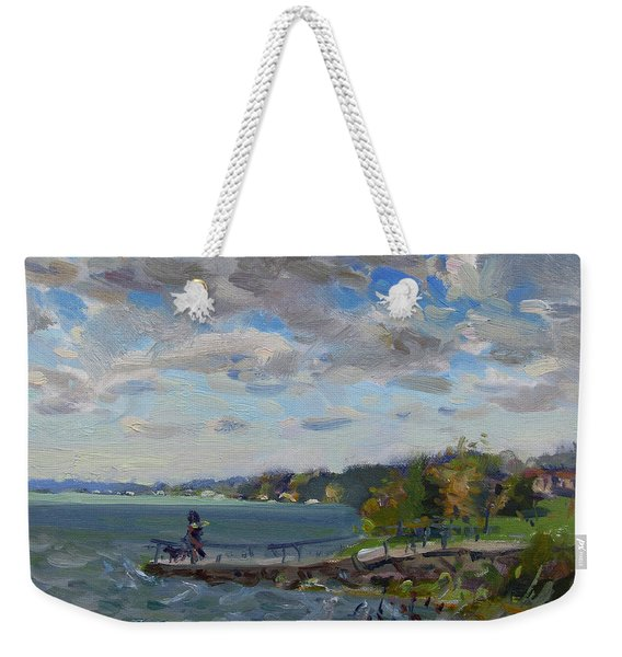 A Cloudy Day At Gratwick Park Weekender Tote Bag