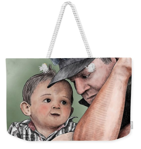 A Conversation With Daddy  Weekender Tote Bag