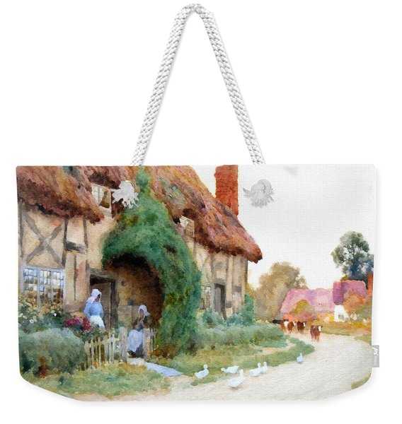 A Country Hamlet - After The Original Painting By Arthur Claude Strachan L B Weekender Tote Bag