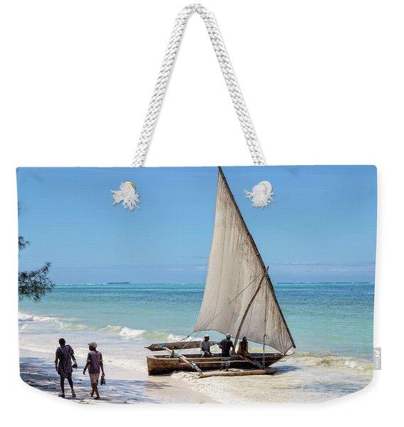 A Dhow In Zanzibar Weekender Tote Bag