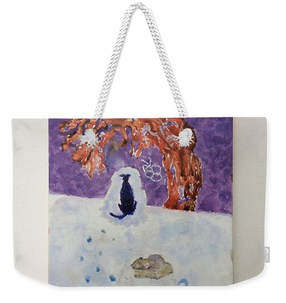 A Dog Named Novak At Home In Heaven Weekender Tote Bag