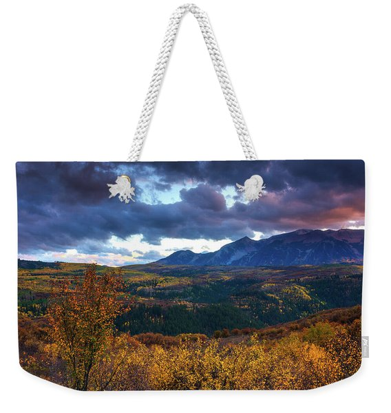 A Fall Sunset In Colorado Weekender Tote Bag