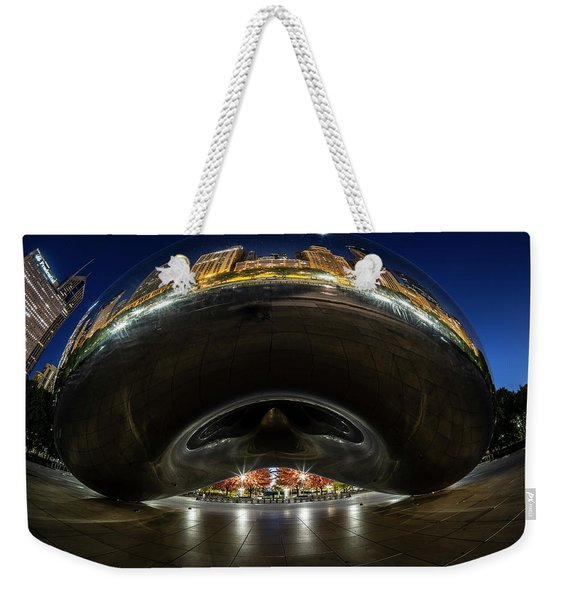 A Fisheye Perspective Of Chicago's Bean Weekender Tote Bag