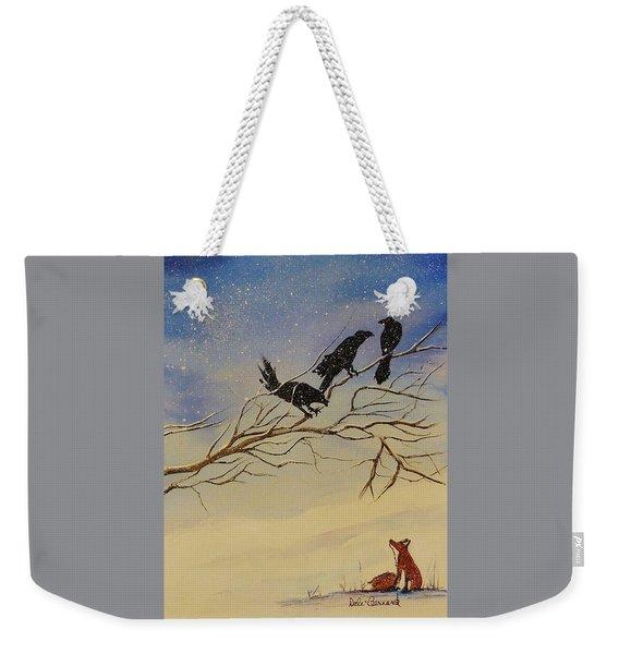 A Fox And His Cronies Weekender Tote Bag