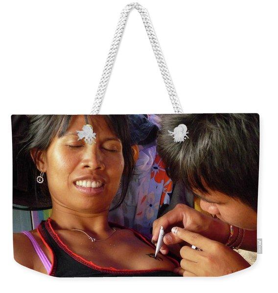 A Fun Tattoo Weekender Tote Bag