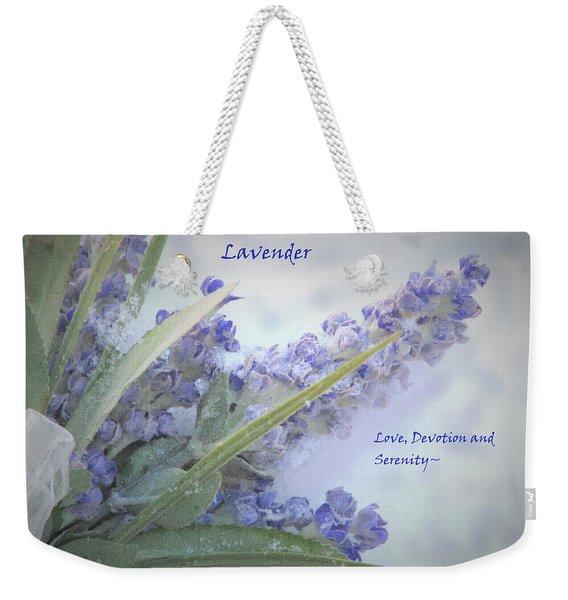 A Gift Of Lavender Weekender Tote Bag