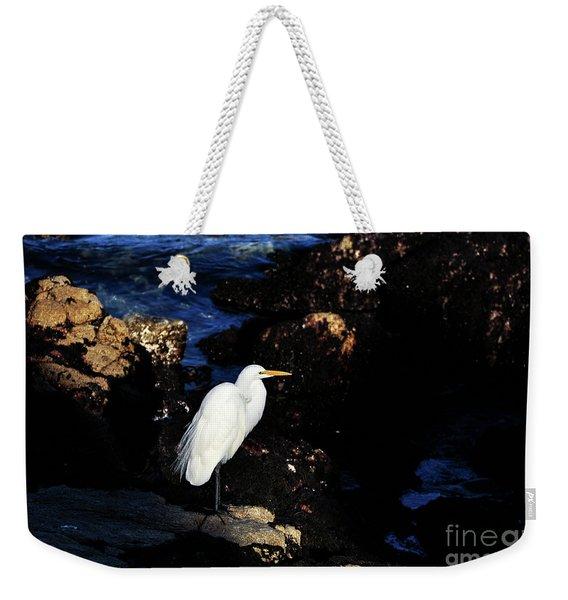 A Great Egret Capturing Sunlight Weekender Tote Bag
