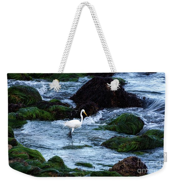A Great Egret Watches The Incoming Tide Weekender Tote Bag