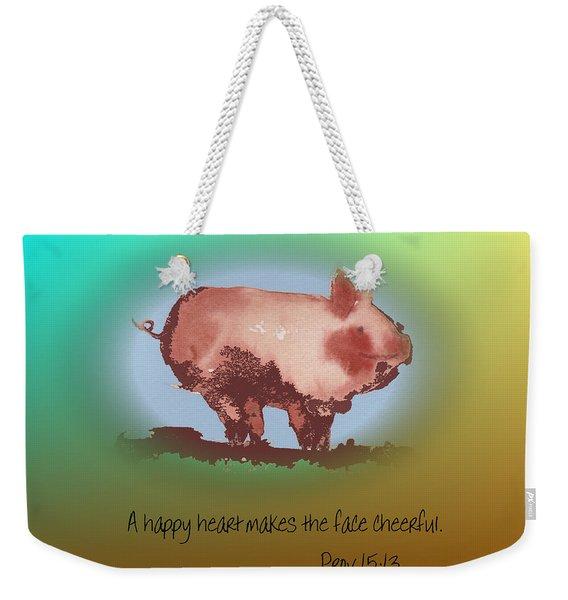 A Happy Heart Weekender Tote Bag