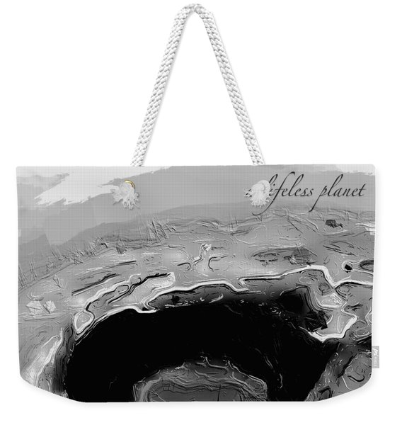 A Lifeless Planet Black Weekender Tote Bag
