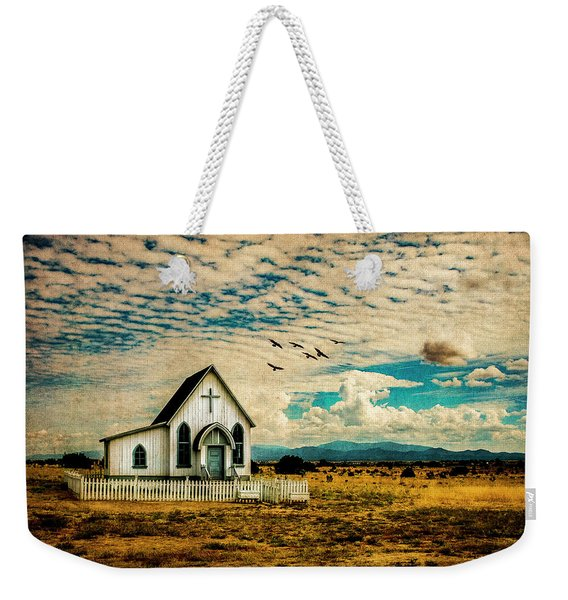 A Lone Prairie Church Weekender Tote Bag