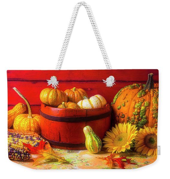 A Lovely Autumn Still Life Weekender Tote Bag