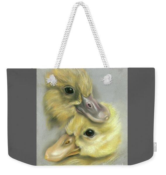 A Pair Of Friendly Ducklings Weekender Tote Bag