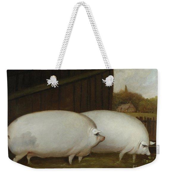 A Pair Of Pigs Weekender Tote Bag