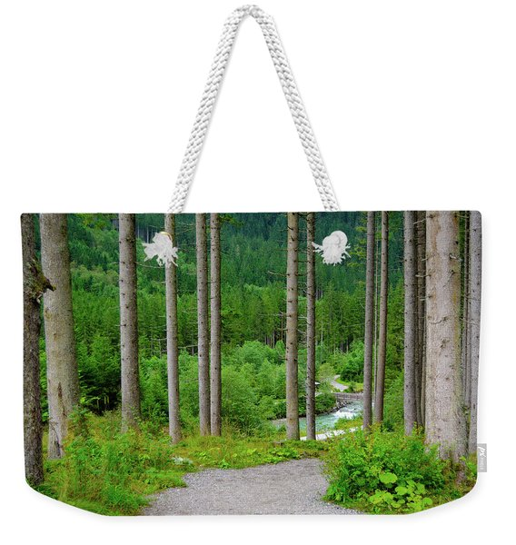 A Path To The River Weekender Tote Bag