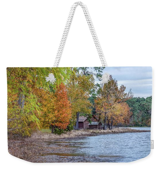 A Peaceful Place On An Autumn Day Weekender Tote Bag