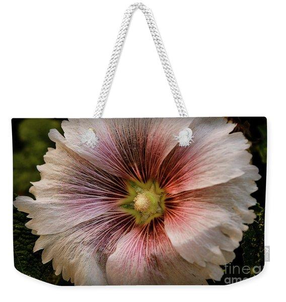 A  Pink Hollyhock Weekender Tote Bag