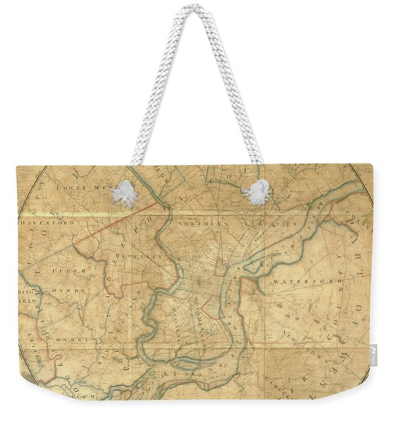 A Plan Of The City Of Philadelphia And Environs, 1808-1811 Weekender Tote Bag