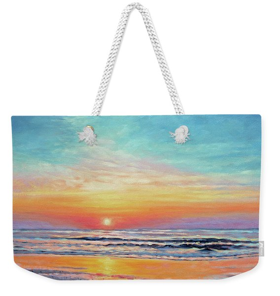 A Promising Beginning - Sunrise On The Outer Banks Weekender Tote Bag