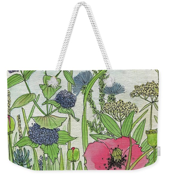 A Single Poppy Wildflowers Garden Flowers Weekender Tote Bag