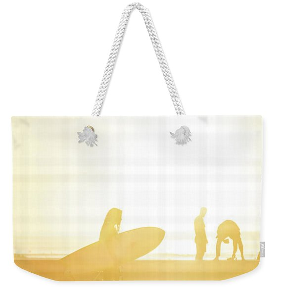 A Surf Board Weekender Tote Bag