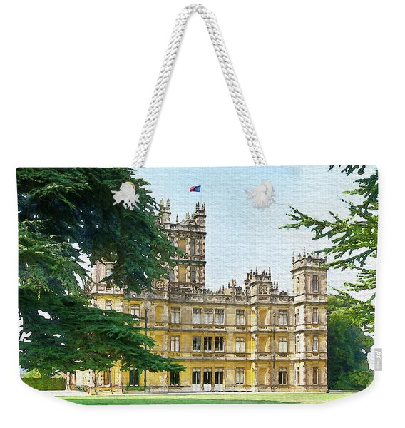 A View Of Highclere Castle 3 Weekender Tote Bag