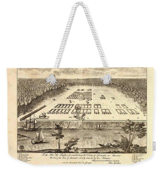 A View Of Savannah Weekender Tote Bag