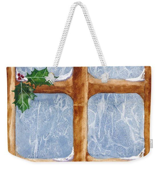 Weekender Tote Bag featuring the painting A Visit From Jack Frost by Rich Stedman