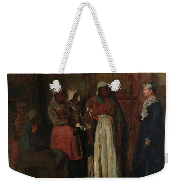 A Visit From The Old Mistress, 1876 Weekender Tote Bag