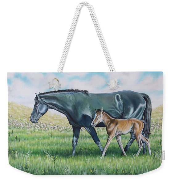 A Walk With Mom Weekender Tote Bag