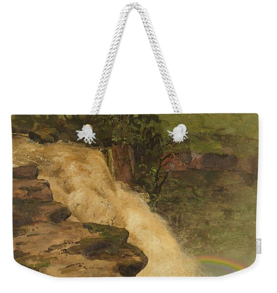 A Waterfall In Colombia - Digital Remastered Edition Weekender Tote Bag