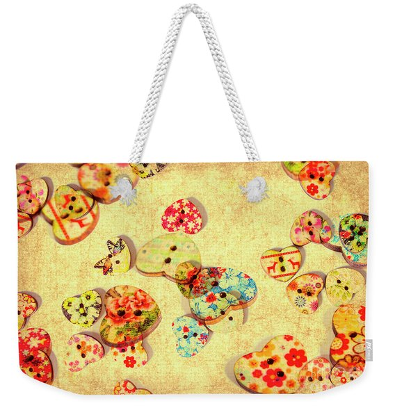 A Weathered Tailors Abstract Weekender Tote Bag